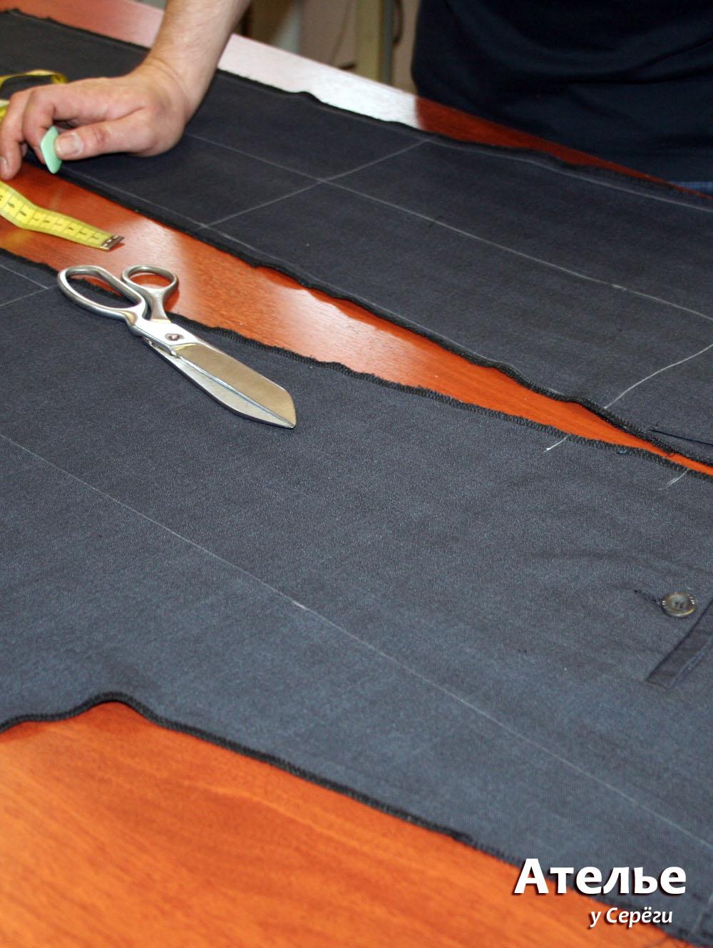 Перекрой брюк - наносим линии