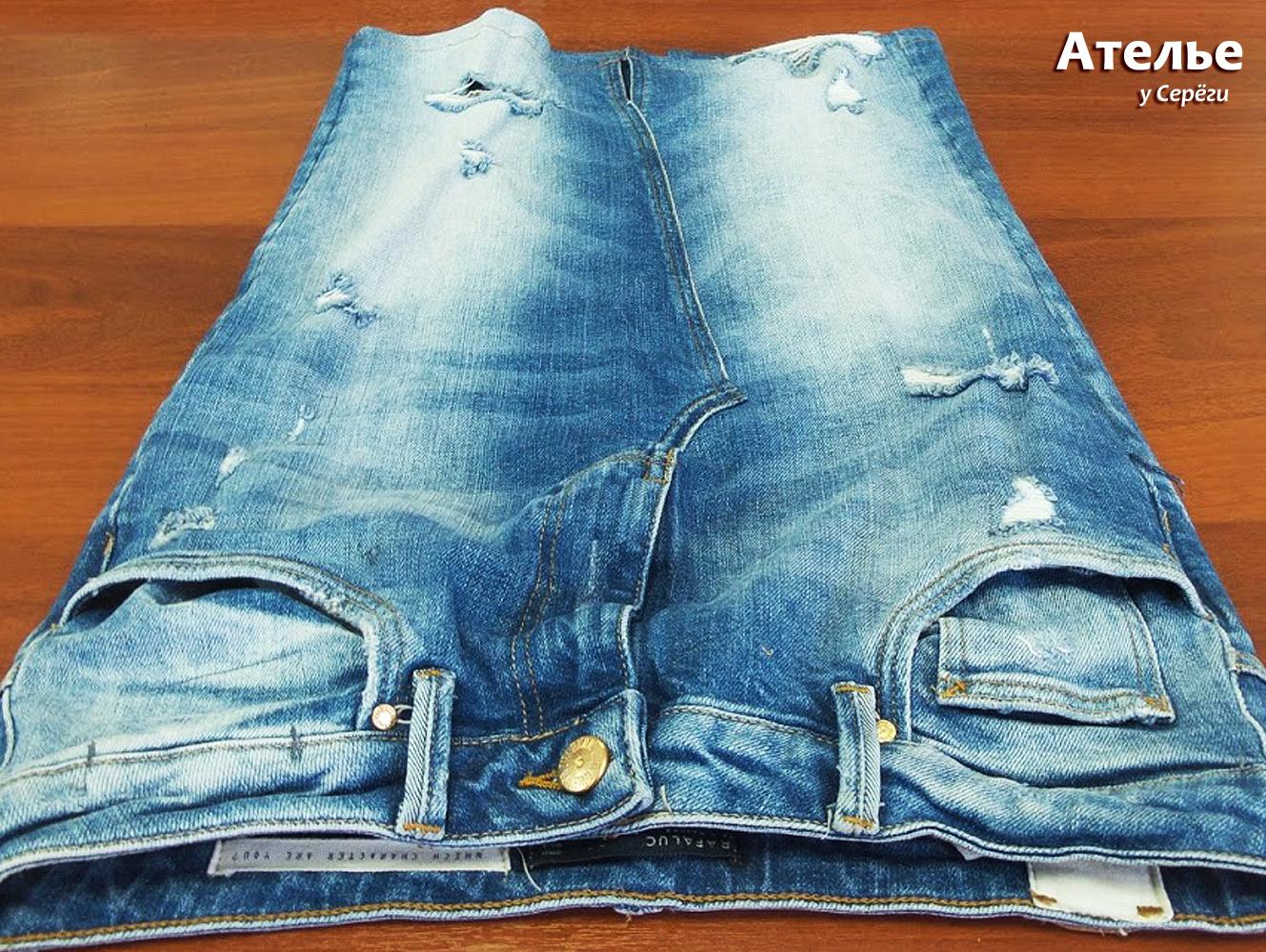 Юбка из джинсов - новая юбка.