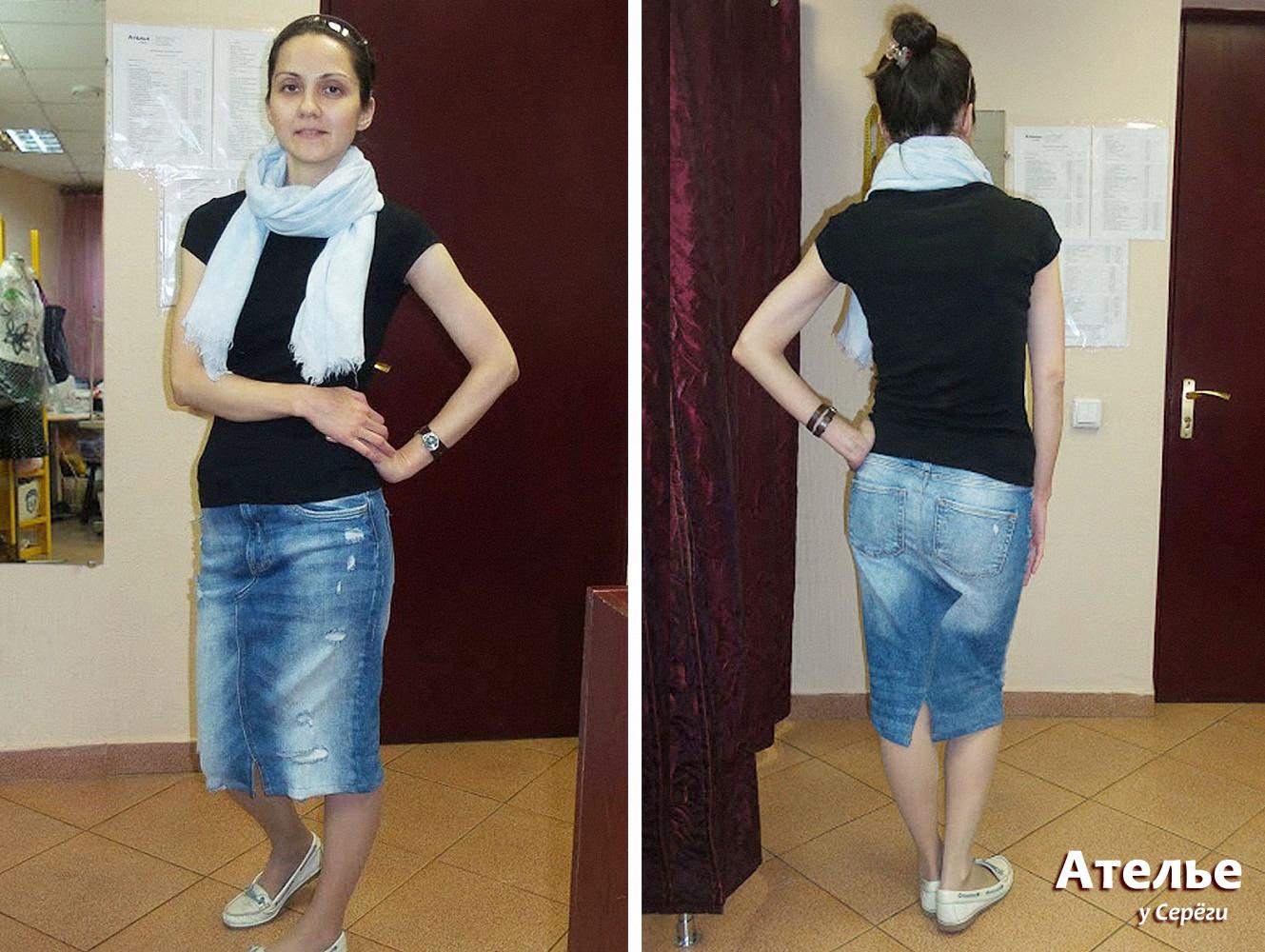 Юбка из джинсов - смотрится хорошо и «сидит» отлично!